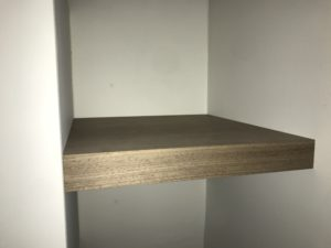walnut niche shelf